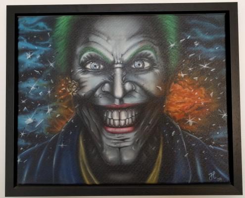 Bullet Joker Airbrush Art Jelle Pelle Paint Custom Airbrush jellepelle.com